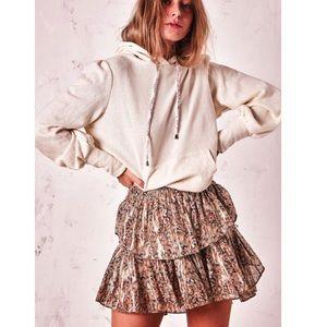 Love Shack Fancy Ruffle Mini Skirt. Size M. NWT.